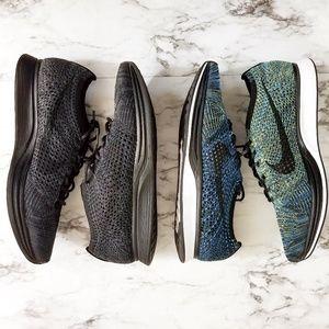 Nike Flyknit Racer Blue lagoon and triple black